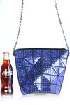 studs effect pattern origami bag  -