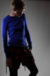 knit cashmere pullover with 3D hem  -