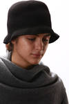 folding felted wool hat  -