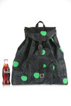 logo and tartan pattern rucksack  -
