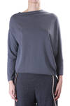 knit cotton asymmetric pullover  -