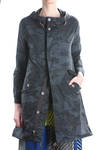 parka in cotton gauze camouflage  -