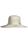 beige and yellow sinamay hat  -