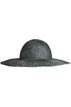 black and silver sinamay hat  -