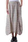 bar striped linen skirt  -