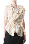 abstract shirt in origami-like crushed layers  -