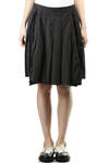 box pleat insets with fringed edges pleated skirt  -