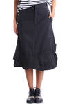 folded hem band A line skirt  -