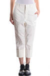wide turn-up cropped trousers  -
