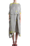 hand painted linen dress  -
