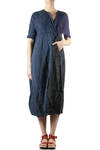 four linen panels wide dress  -