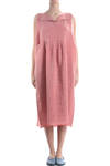 linen dress with pocket detail  -