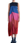 'sunrise' colours bands woven dress  -
