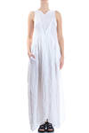 long dress in waved linen gauze  -