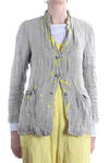 hand painted linen jacket  -