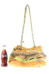 crochet basket style bag  -