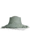 fray edge straw hat  -