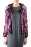 short jacket in bi-colour glossy ripstop  -