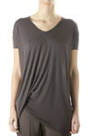 side draped jersey top  -