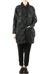 wave pleated organdie wide long jacket  -