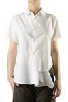 unbalanced cotton shirt  -