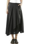 polyester and cotton poplin pleated skirt  -