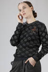 Wool, cotton and polyamide jacquard sweater with lozenges pattern - VIVIENNE WESTWOOD - Gold