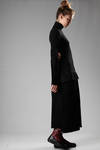 Long dress in wool jersey and woollen cloth  - 73