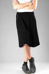 wide calf-length skirt in viscose, polyamide and elastane corduroy chenille  - 227