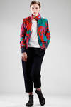 short blouson in cotton twill with leaves pattern - VIVIENNE WESTWOOD Anglomania