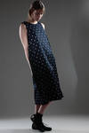 vest dress in washed cotton satin with printed polka-dots  - 157