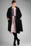 long and wide coat in smooth cotton velvet  - 195