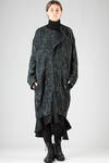 wide coat in loom worked wollen multicolour cloth  - 97