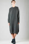 long dress in knitted extra fine wool, polyamide and yak  - 227