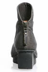 SWIFT ankle boot in treated cowhide leather and sole with three blocks rubber heel - TRIPPEN