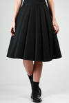 wide full skirt with large pleats in wool flannel  - 74