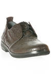 hand-made Oxford shoe in embossed leather - SHINOBU