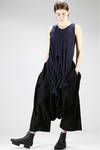 asymmetric hip-length top in light cotton jersey - YOHJI YAMAMOTO