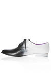 man shoe in two-colours cowhide leather entirely hand-painted - MASSIMO GIUSSANI