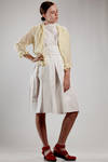 short slim fit shirt jacket in washed linen bicolour vichy gauze - DANIELA GREGIS