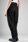 wide trousers in washed linen cloth - FORME D' EXPRESSION