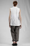 waistcoat in wrinkled and washed cotton cloth - FORME D' EXPRESSION