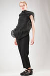 hip length 'sculpture' waistcoat with bands of lined linen 'cocoon' sewn on the front - RICK OWENS