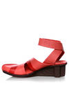 STRICT sandal in soft cowhide leather and crossed T shaped rubber sole - TRIPPEN