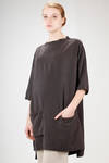 knee length tunic in linen cloth and washed silk - SARK STUDIO