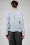 hip length sweater in very soft cashmere vichy gauze - DANIELA GREGIS