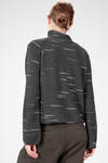 hip length sweater in wool and cashmere knit with horizontal outline - FORME D' EXPRESSION