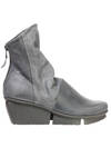 LAVA ankle boot with heels in matt and treated cowhide leather with nabuk effect and smooth cowhide leather - TRIPPEN