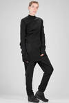 long and straight sweater – mouldable – in woollen knit like an armour - RICK OWENS