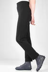 slim fit straight trousers in jersey with horizontal polyamide and elastane lines - YUKAI